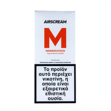 AirScream Pops Mangolicious 4 x 1.2ml 09mg Salt